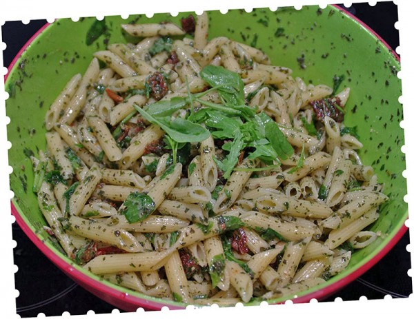 Kochbox - Nudelsalat mit Pesto