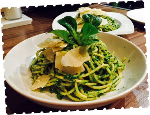 Kochbox - Pasta mit Feldsalat-Pesto
